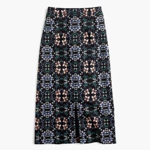 *NWOT* J. Crew Midi Skirt in Mirrored Floral